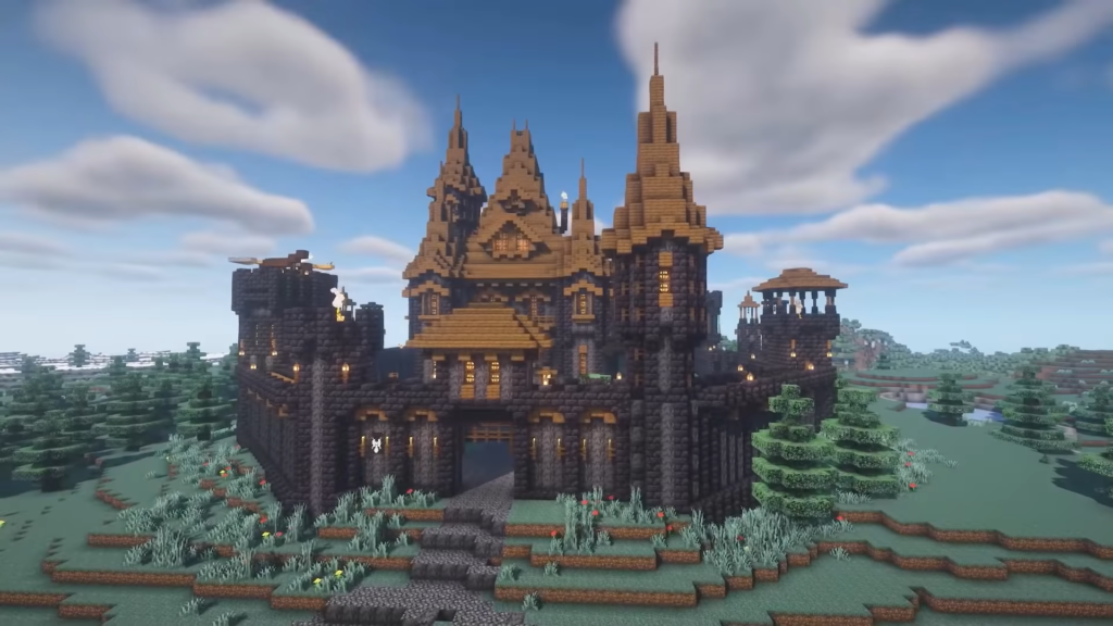 Minecraft Blackstone Medieval Castle Blueprints Design