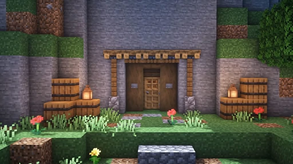 Minecraft Starter House Ideas - Cave House