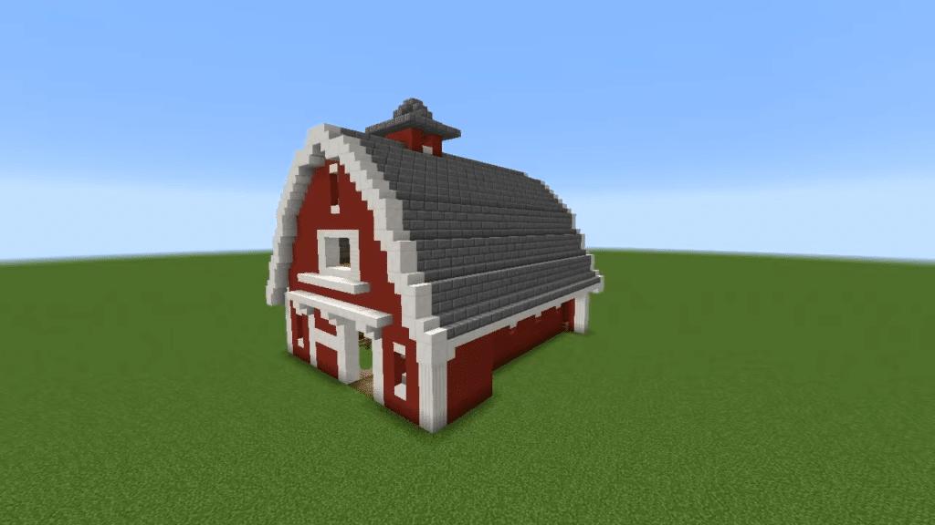 Classic American Style Barn Blueprint Minecraft