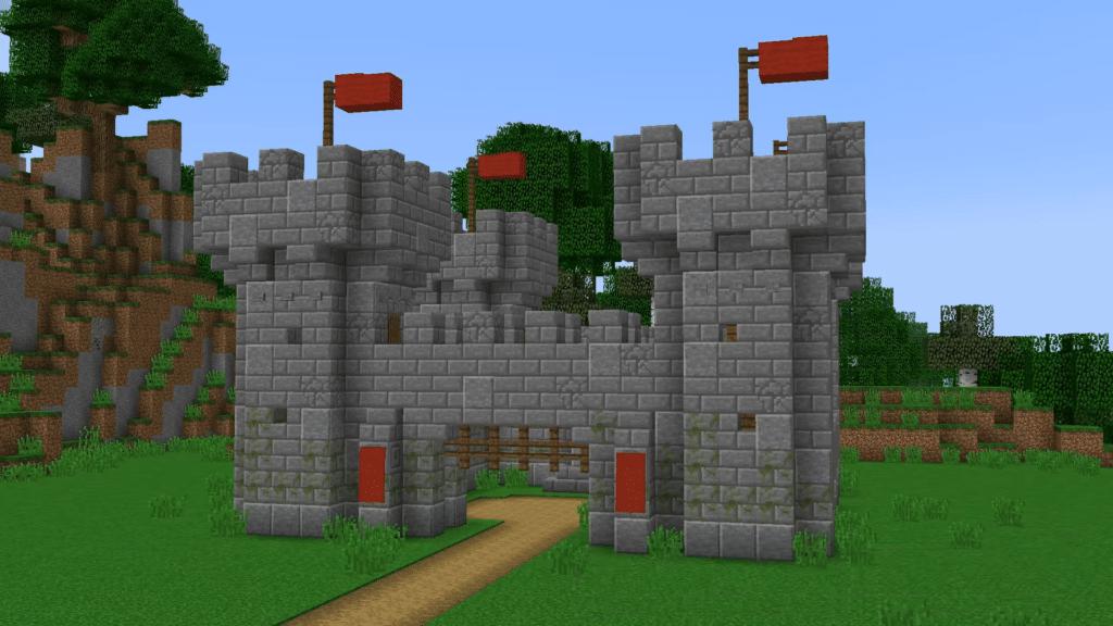 Minecraft Stone Medieval Castle Basic Building Idea