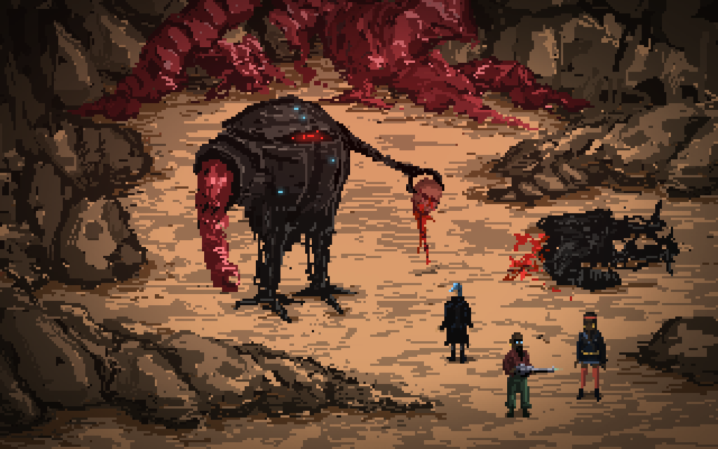 Death Trash Screenshot featuring multiple characters from the world