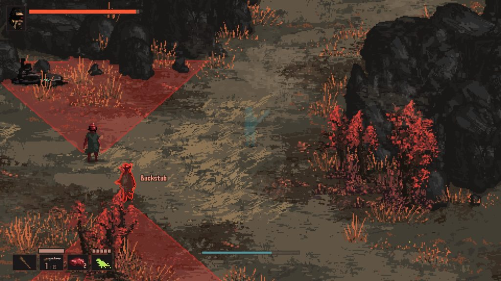 Players can use a Stealth implant to backstab different enemies