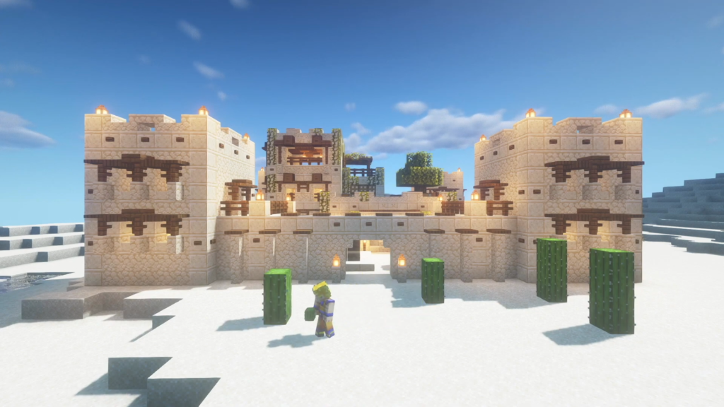 Desert Castle Fortress Minecraft How to Build