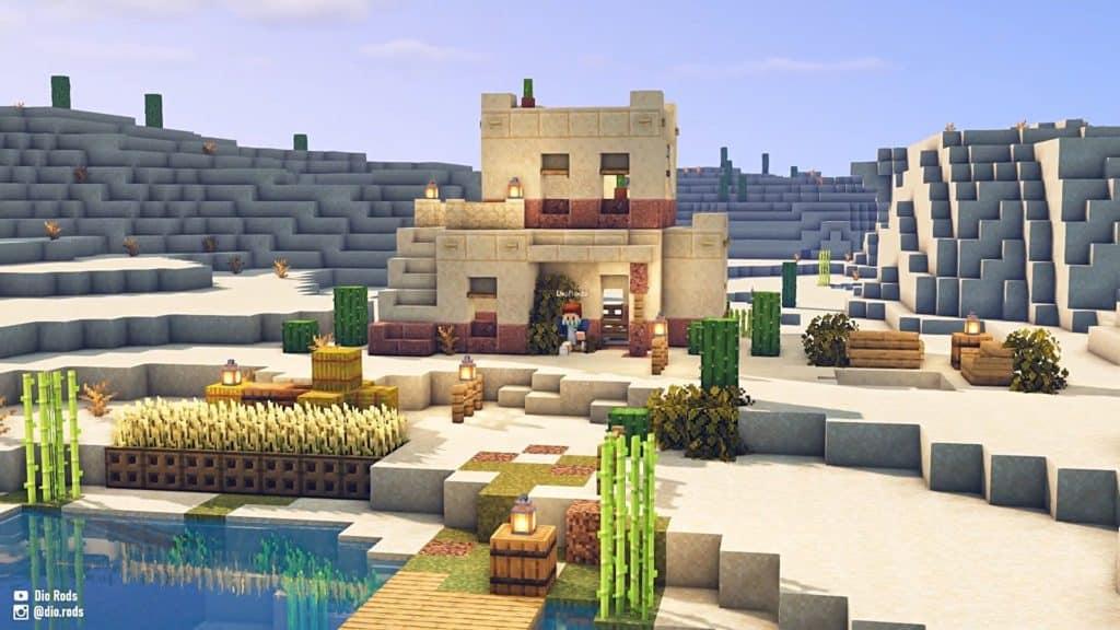 Minecraft Starter House Ideas - Desert House