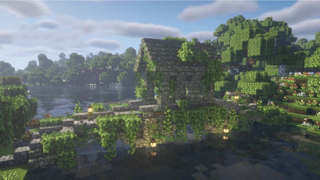 Minecraft Fairy Cottagecore Bridge How to Build
