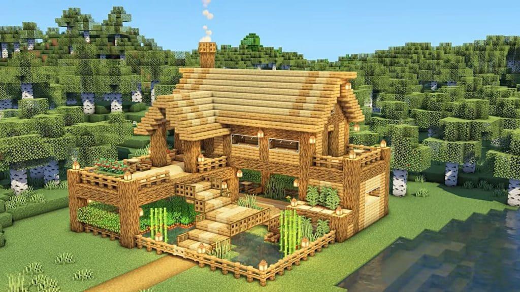 Minecraft Starter House Ideas - Farm House