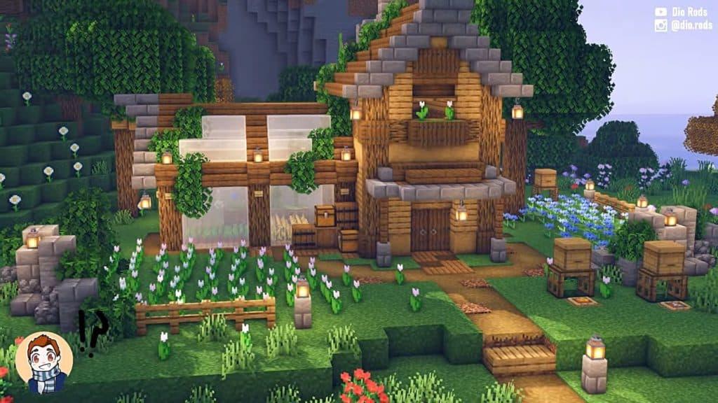 Simple Minecraft house ideas - flower forest house