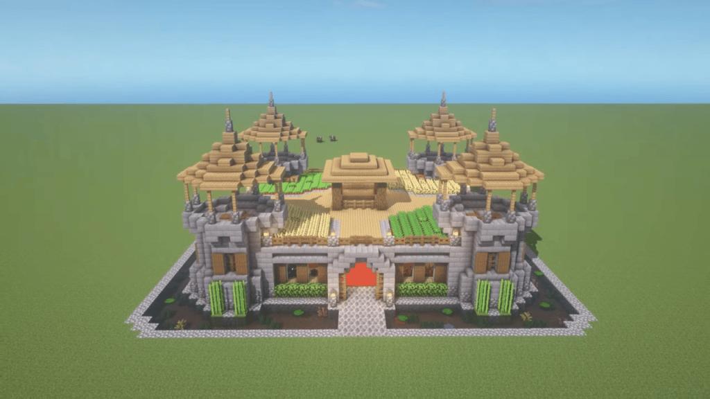 Minecraft Castle Building Idea Stone