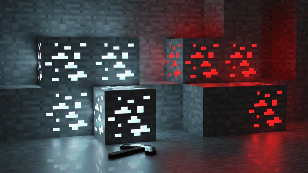 Minecraft Wallpaper Ore Mine