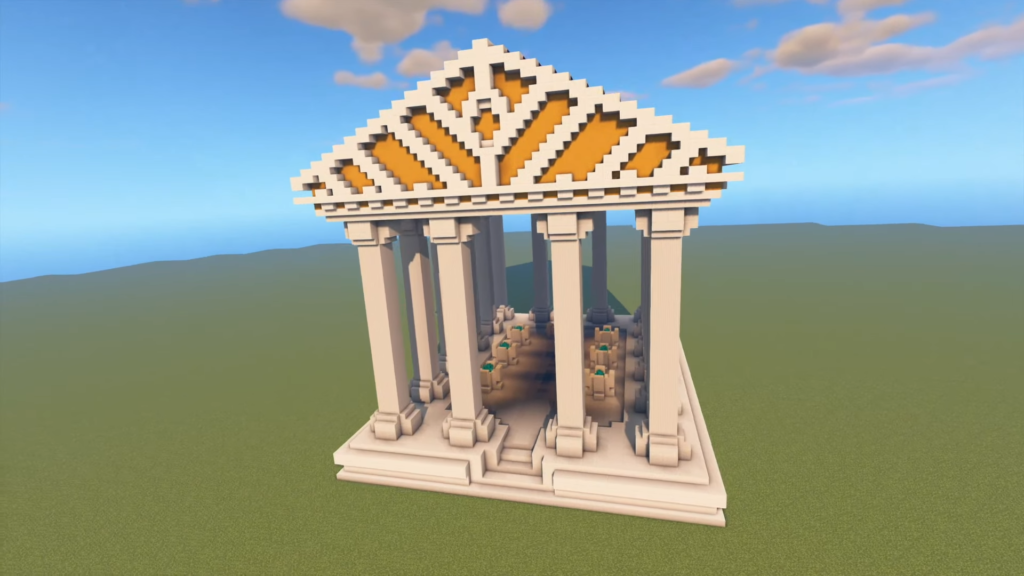 Minecraft Greek Temple Idea for Minecraft 1.17