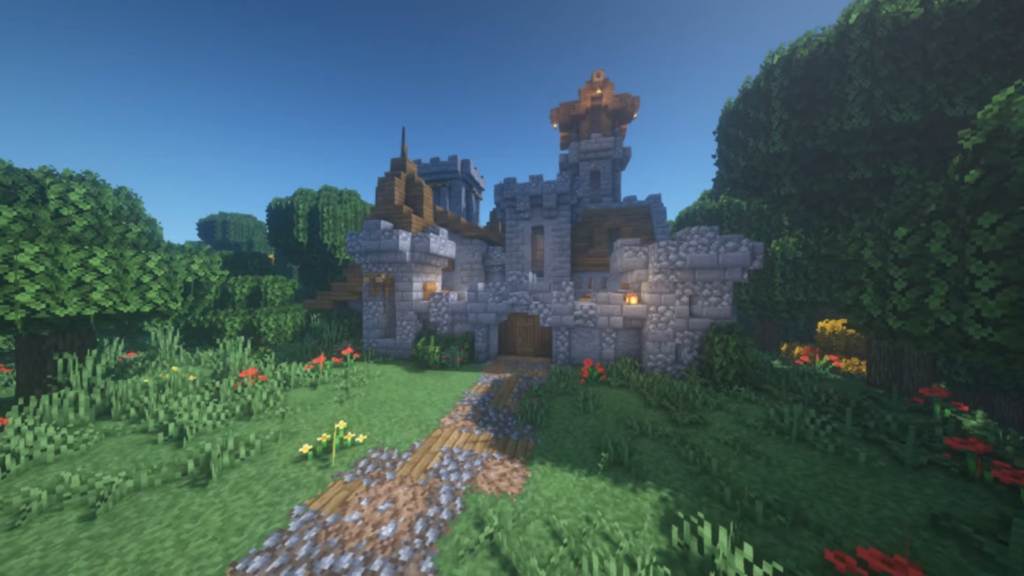 How to Build Minecraft Little Castle Tutorial