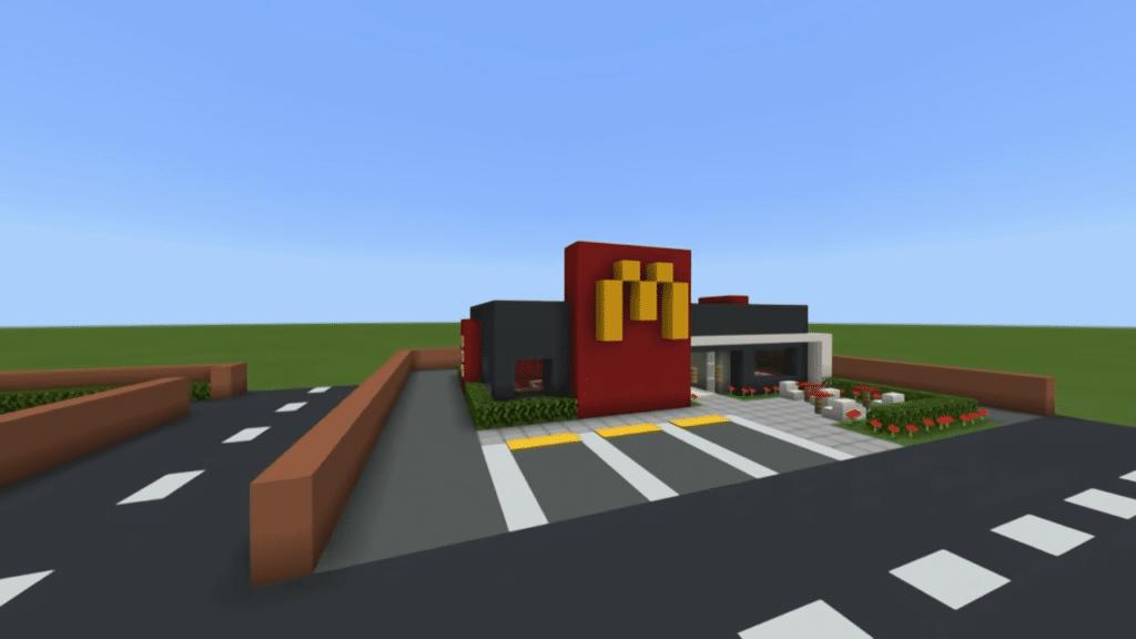 McDonald's in Minecraft