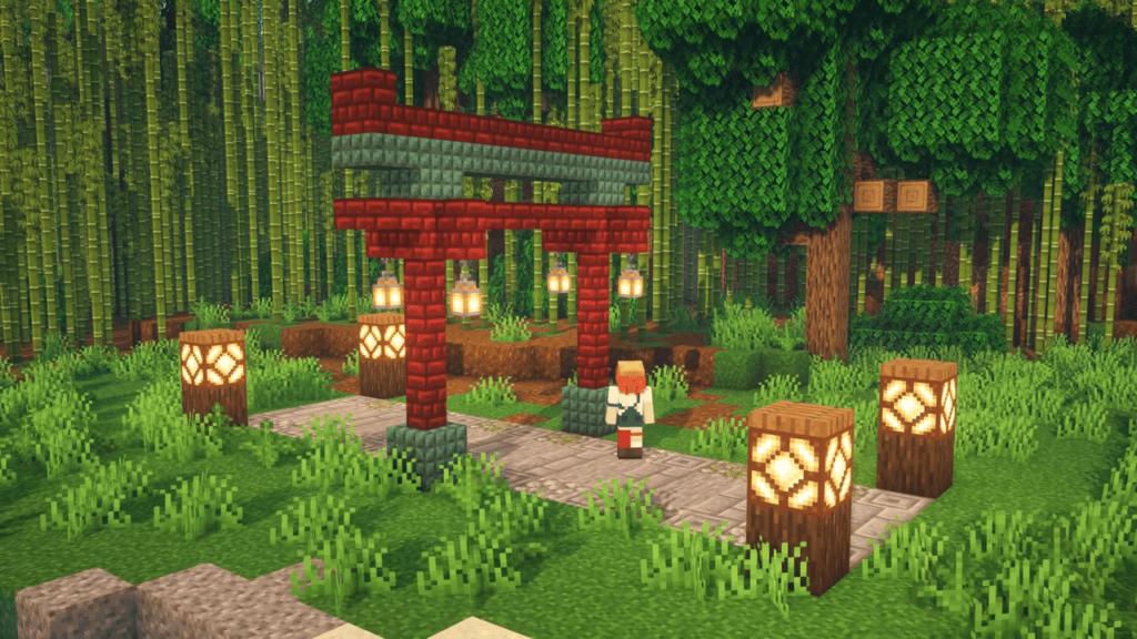 Torii Gate in Minecraft