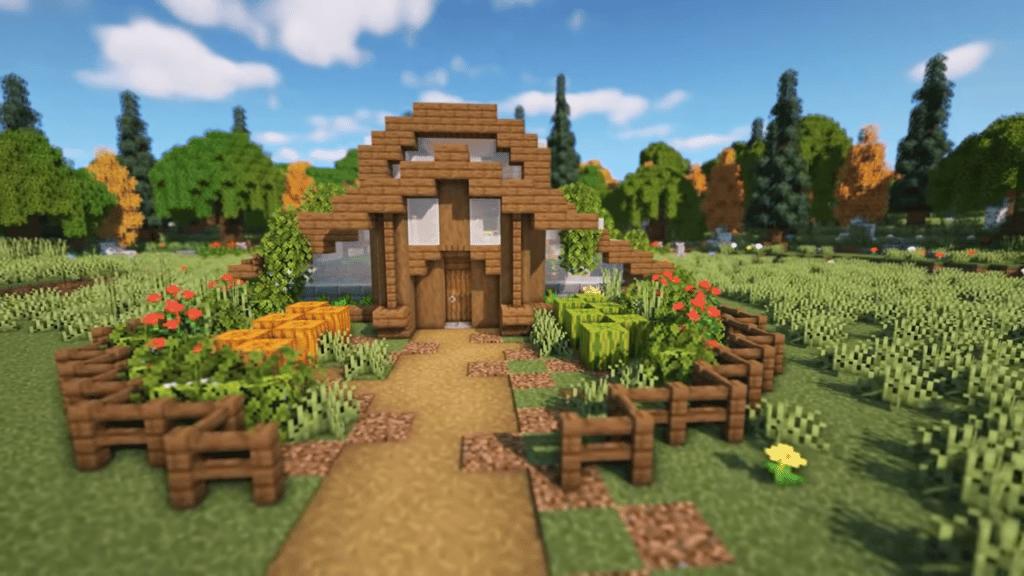 Minecraft greenhouse building idea