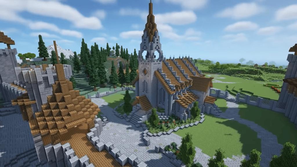Medieval church in Minecraft