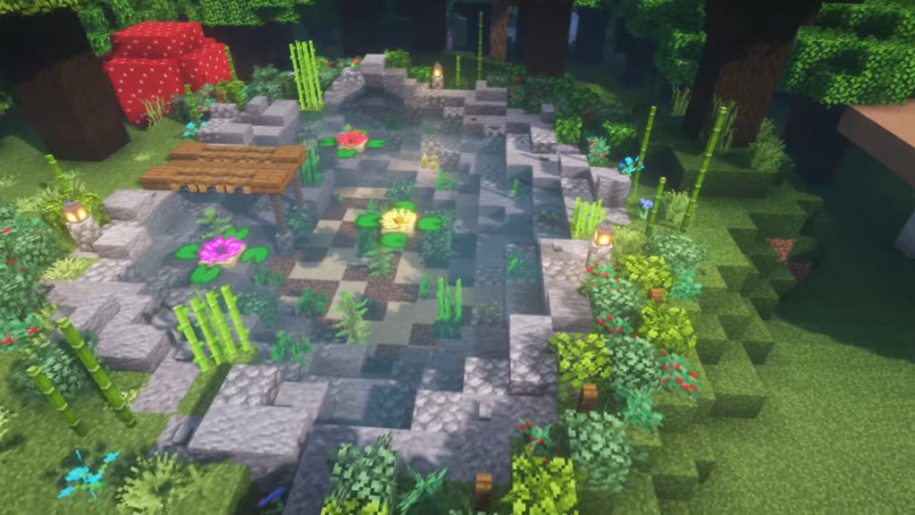 Pond in Minecraft