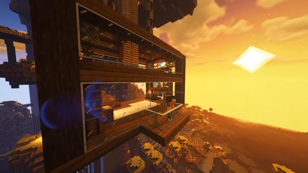 Minecraft Cliff house building design