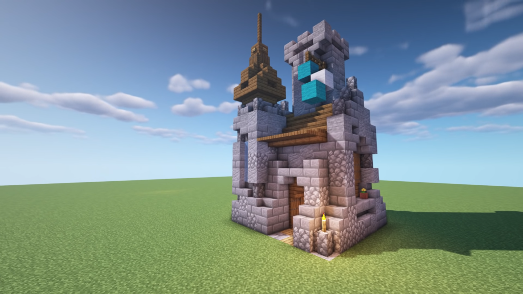 Minecraft Mini Castle How to Build Tutorial
