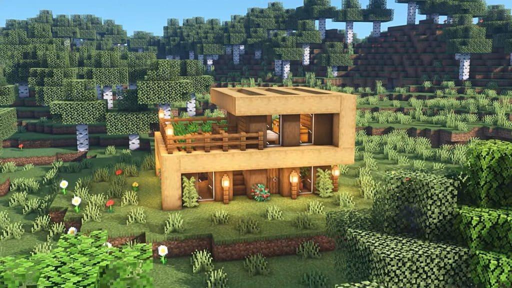Minecraft Starter House Ideas - Modern House