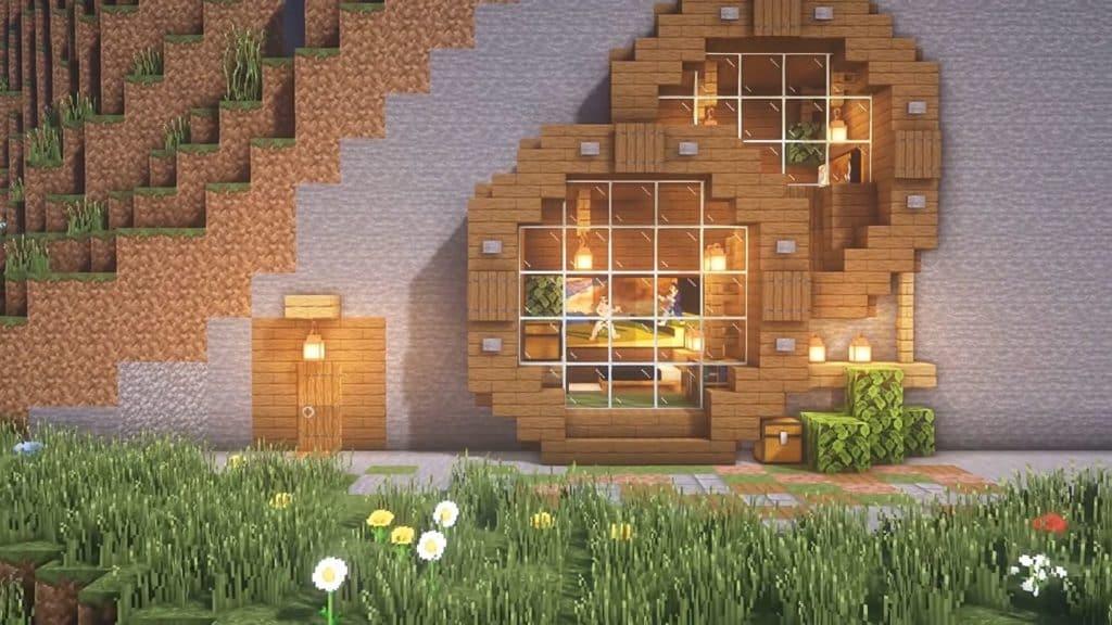 starter house Minecraft - Mountain House