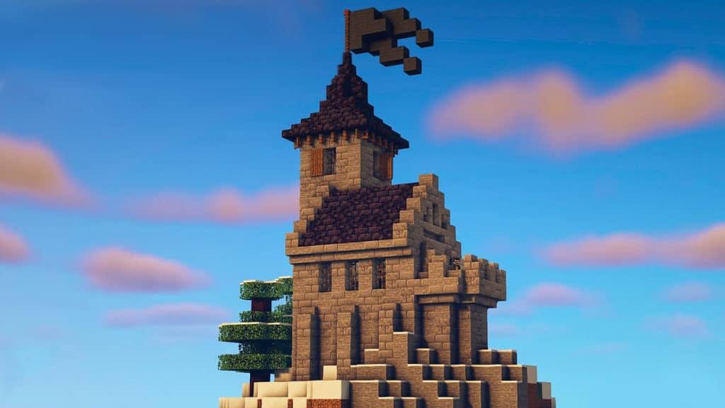 Mountain Castle Minecraft Tutorial