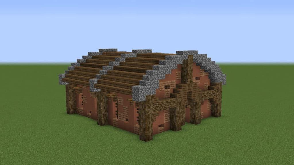 Rustic Minecraft Barn Idea Grian 1.17