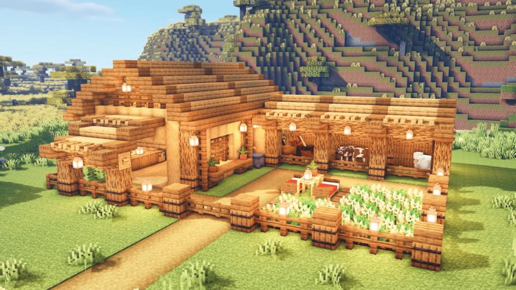 Simple Barn Minecraft Survival World