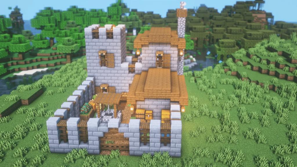 Minecraft Simple Survival Castle Base Singleplayer
