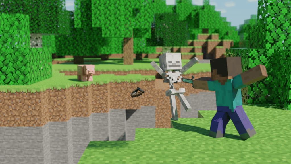 Best Minecraft Steve Skeleton Wallpaper