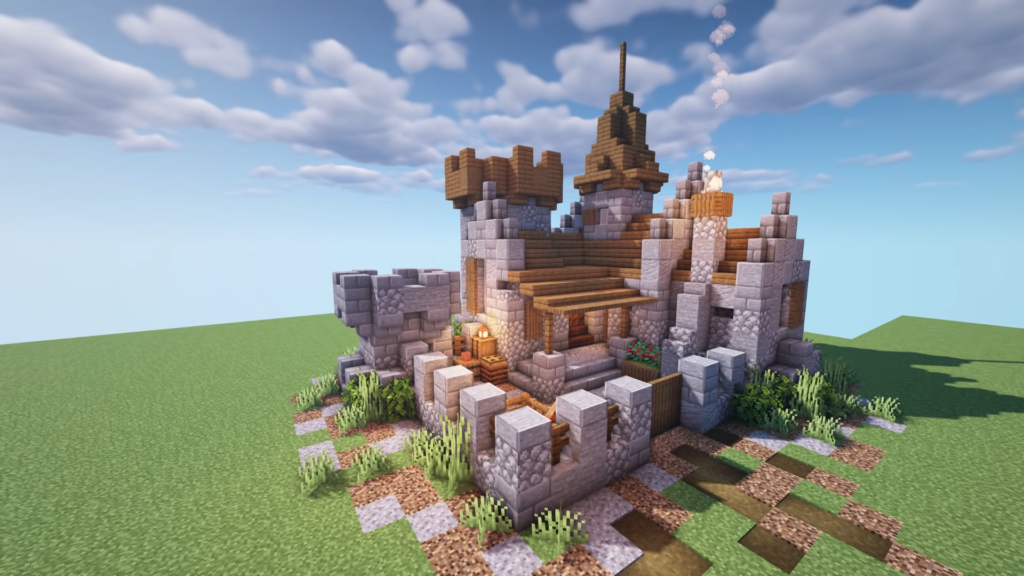 Compact Small Minecraft Medieval Castle 1.17