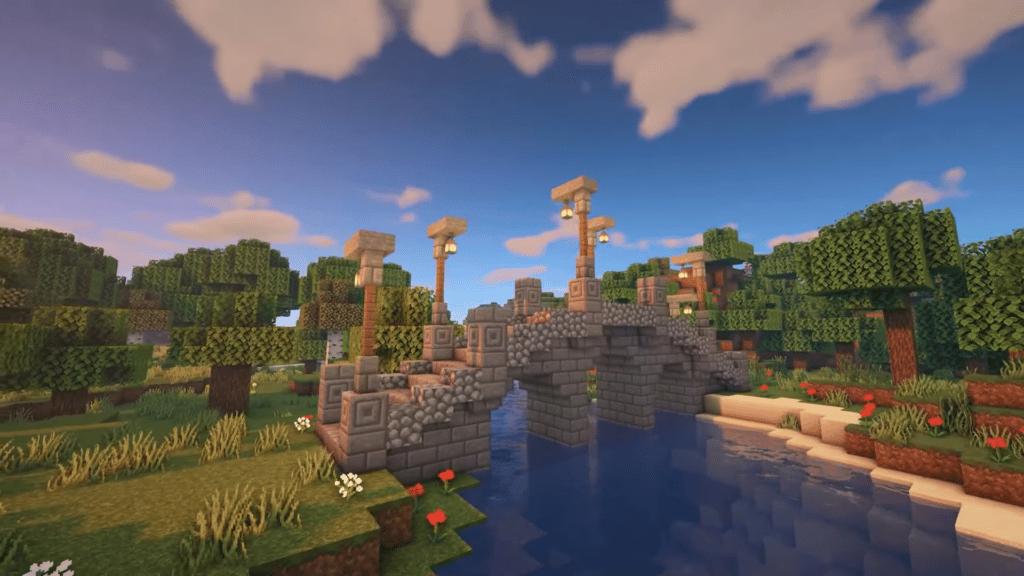 How to Build Stone Bridge Minecraft