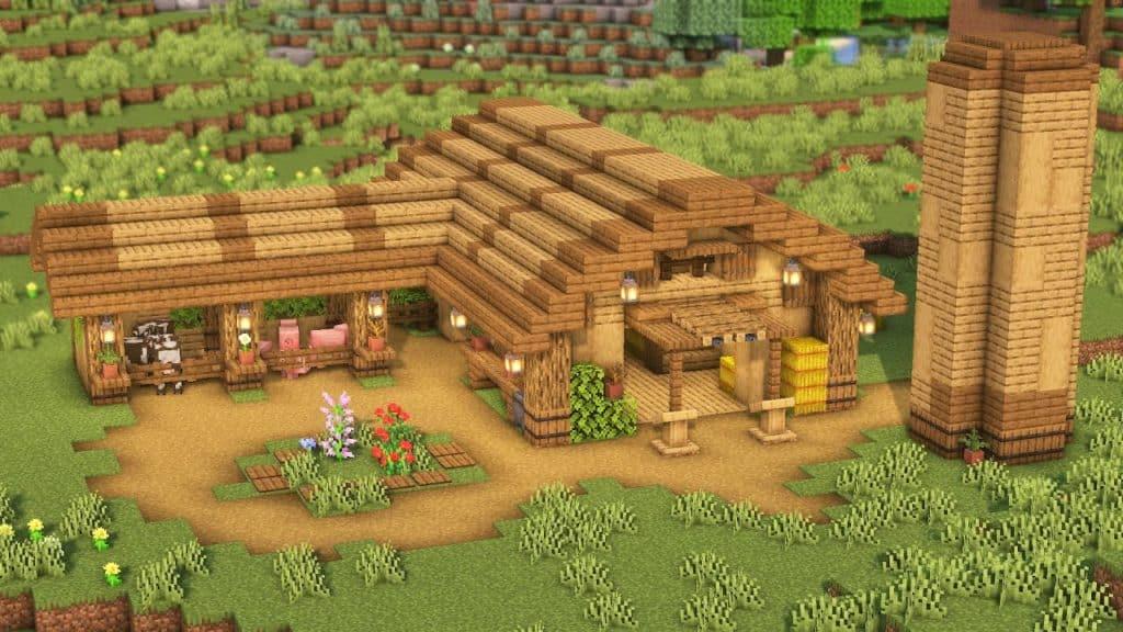 Survival Best Barn Minecraft Idea