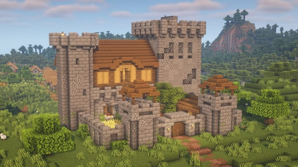 How to Build Survival Medieval Castle for Minecraft