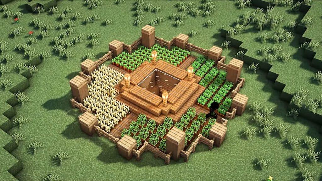 Minecraft Starter House Ideas - Underground Bunker