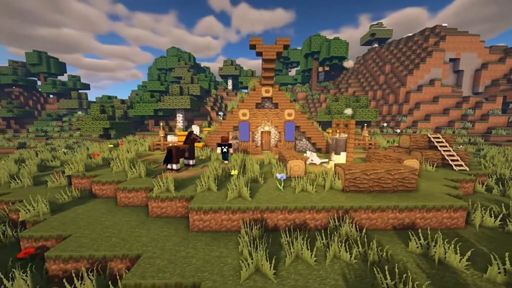 Minecraft Starter House Designs - Viking House