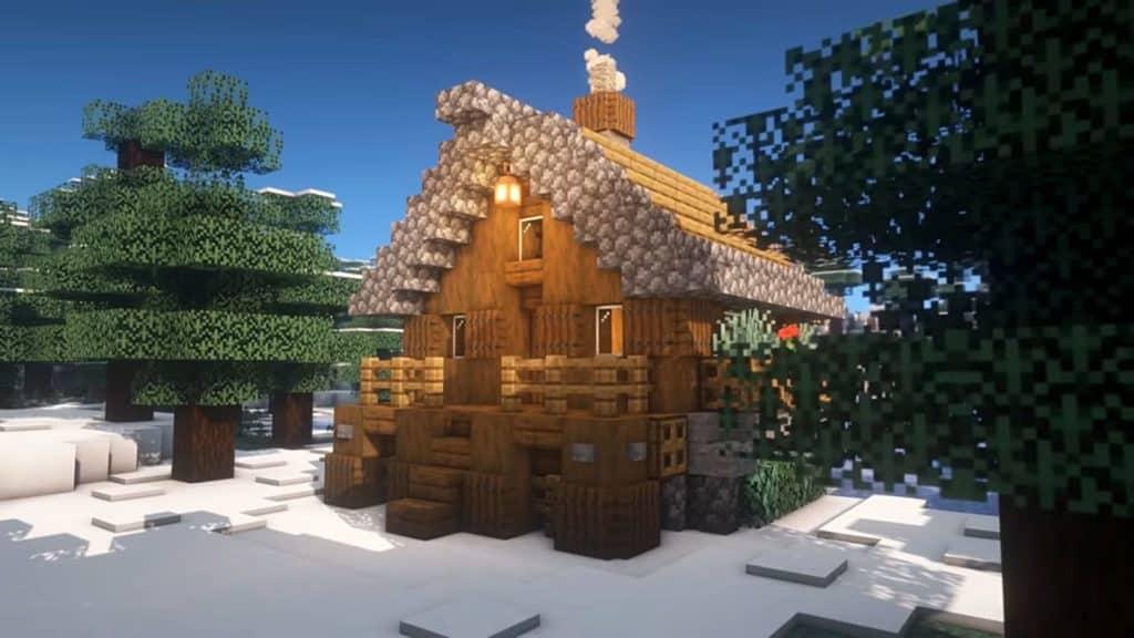 Minecraft Starter House Ideas - Winter Cottage