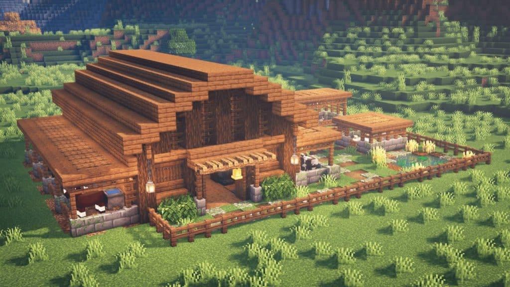 Wooden Barn Minecraft Medieval Idea