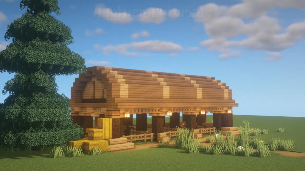 Best Wooden Barn Animal Horse Minecraft Survival