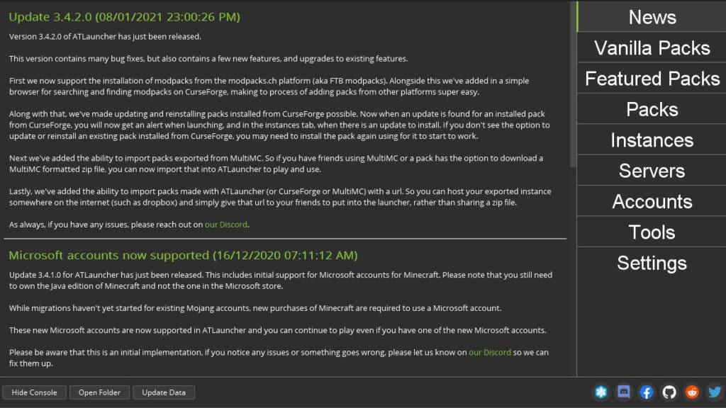 ATLauncher Best Minecraft Launcher Mod Manager