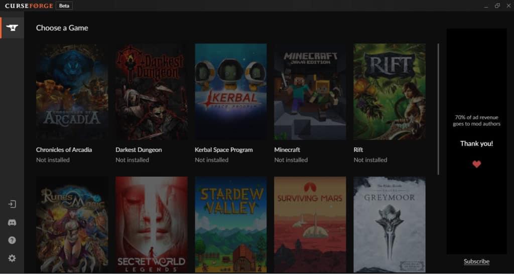 CurseForge Best Minecraft Launcher Manage Mods
