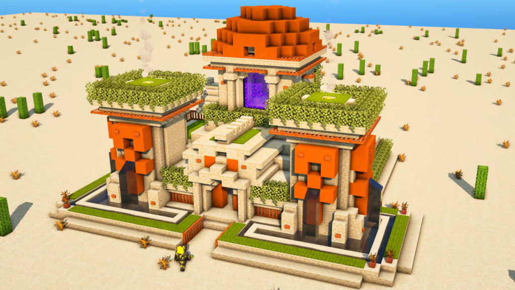 Desert Temple Idea for Minecraft 1.17 with Nether Portal