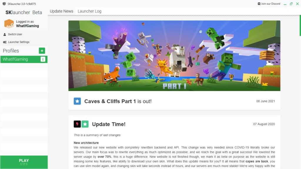 Minecraft SKLauncher No-Premium Launcher for Java