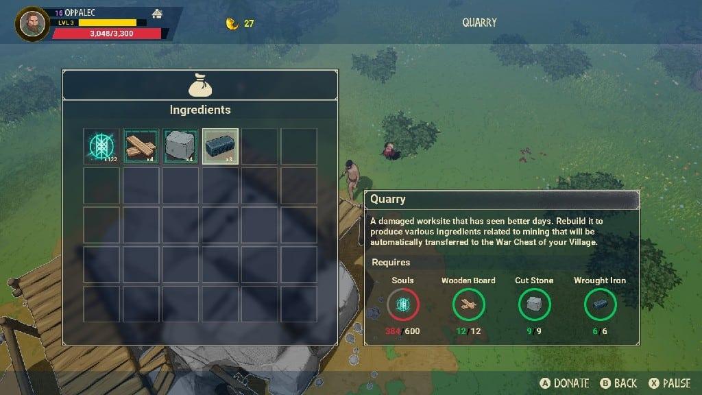 Quarry Requirements