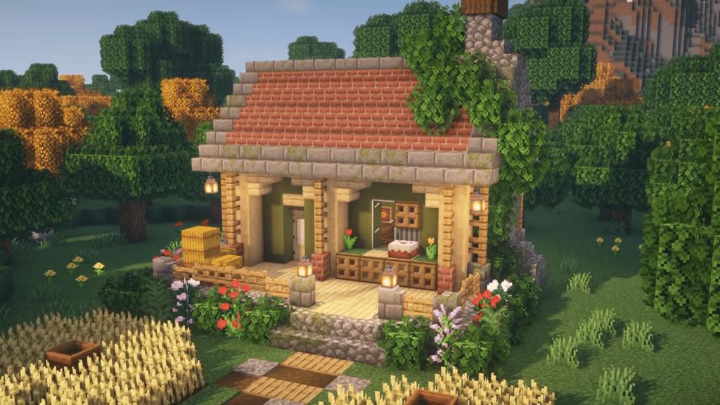 Cottage Calm Aesthetic Farm Minecraft 1.17 Best Fairy How to Build