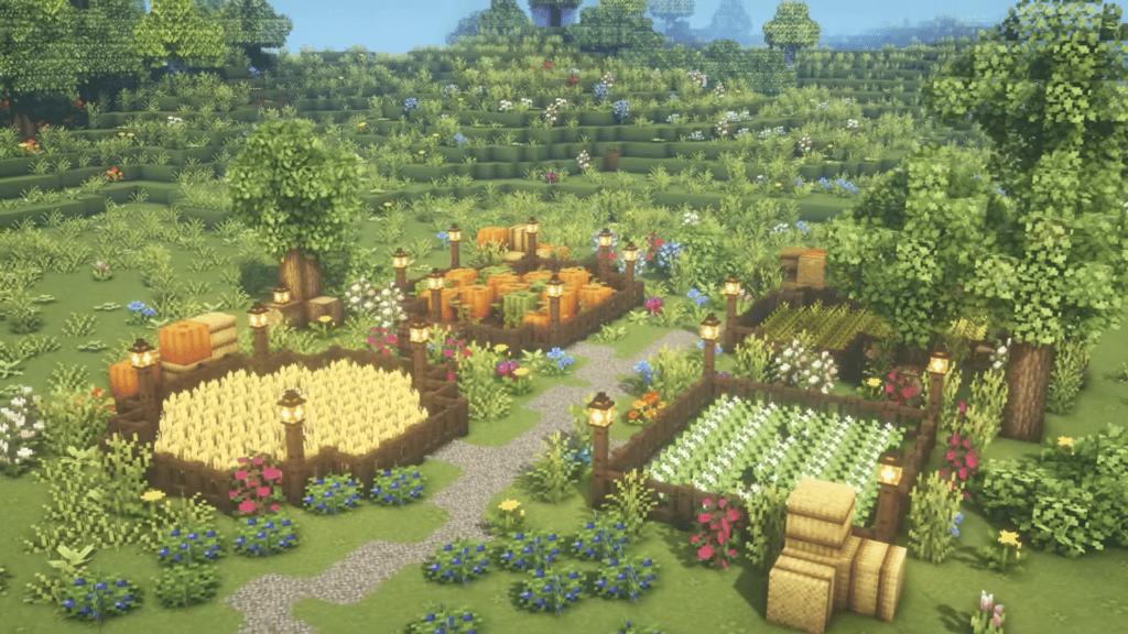 Farm Chill Calm Cottagecore Look Minecraft Survival Singleplayer 1.17
