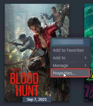 This is how Bloodhunt shows up in Steam