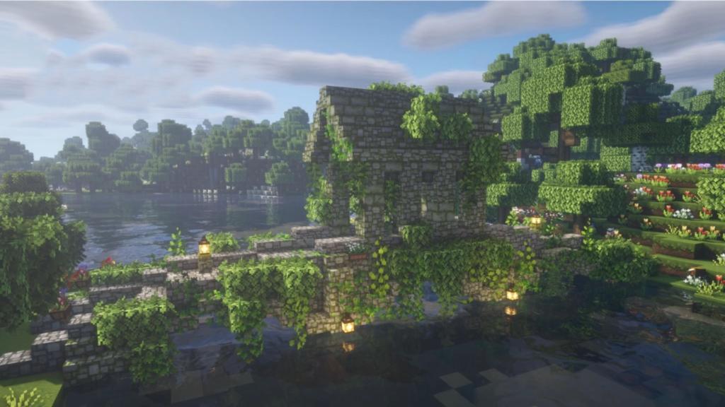Fairy Bridge Cottagecore Minecraft Design Ideas Survival
