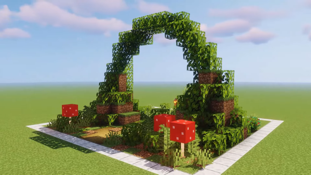 Nether Portal Fairy Gate Aesthetic Minecraft Building Idea How to