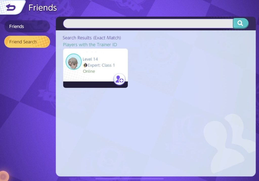 You can search for, and check your friends in the Friends Section of Pokemon Unite