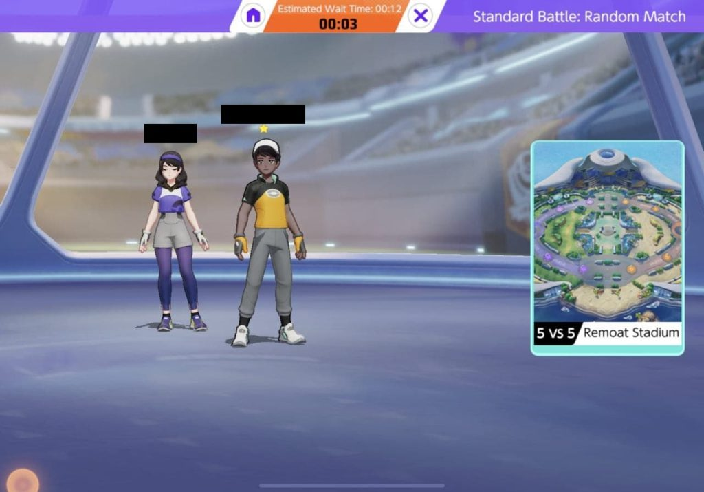 This is the Pokemon Queue where you will wait for the match to start